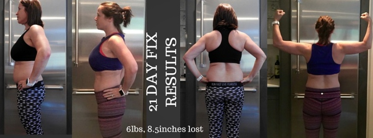 21 Day Fix Results (Rd1)